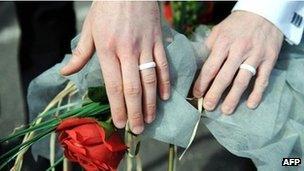 A gay wedding
