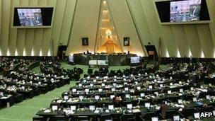 Iranian parliament. 3 Feb 2013