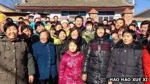 Xi Jinping in a crowd