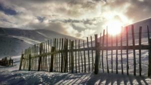 Snowy scene at Glenshee