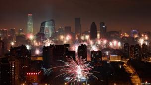 Fireworks in Beijing.