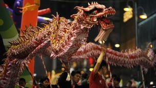 Dragon race in Hong Kong.