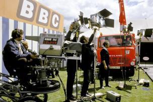Ffilmio yn Eisteddfod Llangollen 1974