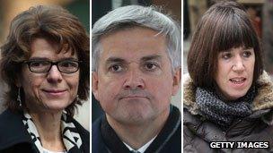 Vicky Pryce, Chris Huhne, Carina Trimingham