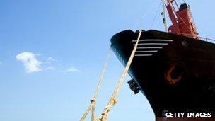 Cargo ship in Cyprus