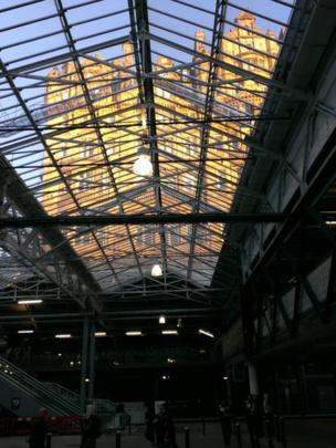 The Balmoral Hotel in Edinburgh, taken through the new roof at Waverley railway station by Mark Mulhern from Edinburgh.