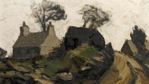 'Farm Llansadwrn' gan Syr Kyffin Williams