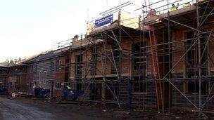 Houses being built in Peterborough