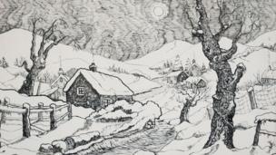 Snow by John Neville Foulkes, © Neville Foulkes estate