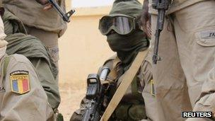 Chadian soldiers in Mali. Photo: January 2013