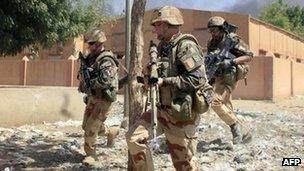 French troops fight in Mali. Photo: February 2013