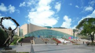 The China Three Gorges Museum in Chongqing where the exhibition Wales, Land of the Red Dragon will be exhibited from 4 March.
