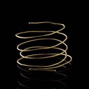 Four gold torcs found buried at Cefn Farm, Llanwrthwl, Powys. Middle Bronze Age, 1300-1150 BC