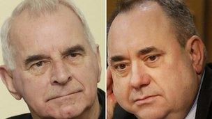 Cardinal Keith O'Brien and Alex Salmond