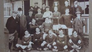 Llanwrtyd Wells' football team 1909-10