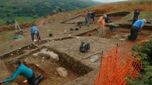 Work at Moel y Gaer
