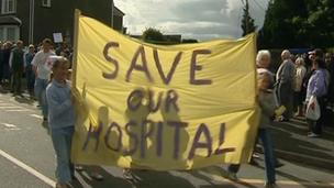 North Wales hospital plans protest