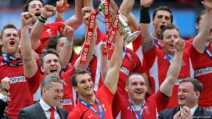 Wales celebrate winning the 2012 Six Nations championship