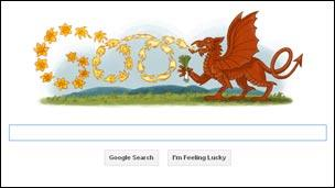 Google home page for St David's Day