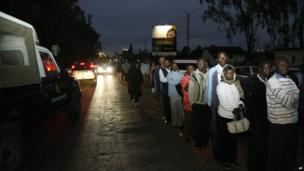 Early voting in Nairobi. 4 March 2013