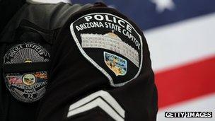 Police man in US