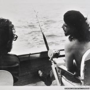 A fishing photograph, featuring Che Guevara and Fidel Castro, taken in 1960