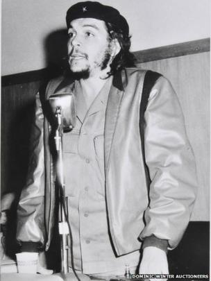 Che Guevara giving an address at the University of Havana in 1960