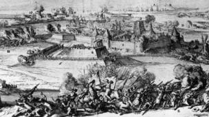 Woodcut of the Siege of Londonderry