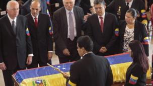 Funeral of Hugo Chavez in Caracas on 8/3/13