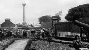The Royal Bastion in Derry city circa 1900