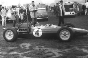 Jim Clark with a Lotus 25