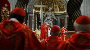 Cardinal Angelo Sodano leads Mass in St Peter's Basilica
