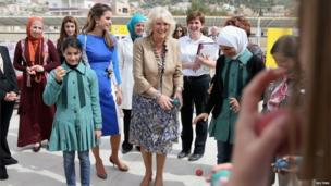 Duchess of Cornwall visits the secondary school of Mahis