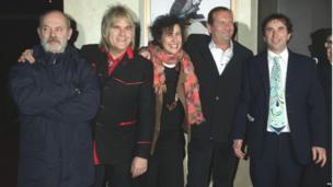 Keith Allen, Mike Peters, director Sara Sugarman, Chris Turner and Phil Daniels