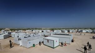 A general view of the King Abdullah refugee camp in northern Jordan
