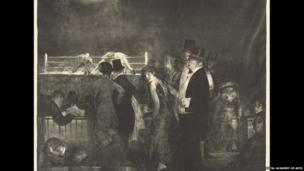 Preliminaries to the Big Bout, 1916, by George Bellows