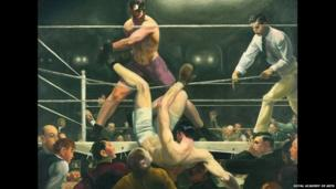 Dempsey and Firpo, 1924, by George Bellows