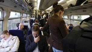 Passengers on train in 2010