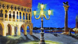 Street Lamp, Venice