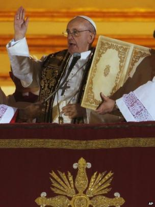Pope Francis makes his speech