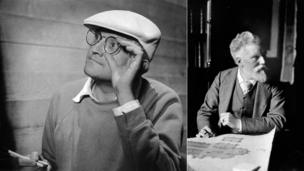 David Hockney (courtesy of Anne Purkis) and Alfred Waterhouse (courtesy of Ralph Winwood Robinson, Royal Academy of Arts, London)