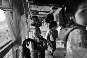 Children get ready for school early in the morning.