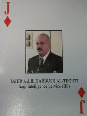 Tahrir Jalil Habbush Al-Tikriti playing card