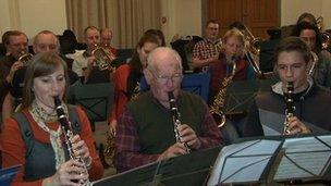 Markneukirchen's town orchestra