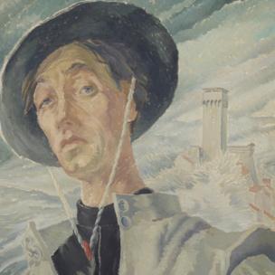 Detail of Monk - La Verna by Elsi Eldridge, 1934-5, Private Collection