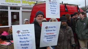 Housing benefit protest in Norwich. Photo: Roger Blackwell