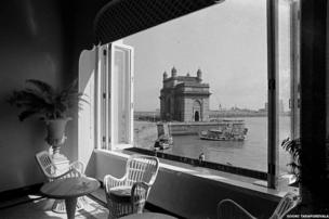 Mr Tata's Taj Mahal Hotel and Gateway of India, Bombay, Archival print on pigment paper, 1977 by Sooni Taraporevala