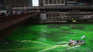 Chicago's green river