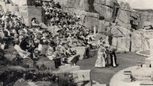 The Minack Theatre in the 1960s