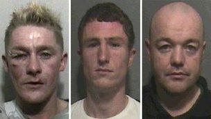 Men jailed after mobile phone footage revealed sex attack